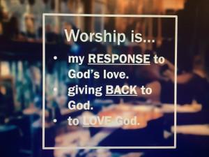 Worship response slide