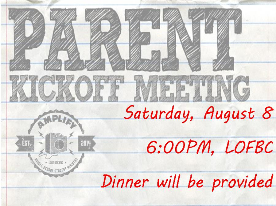 Parent Kickoff Meeting