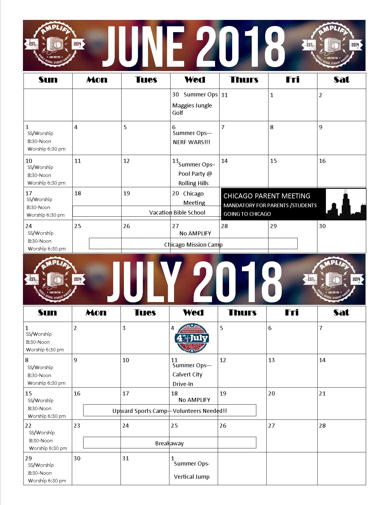 Summer Calendars Are Here Lone Oak Students